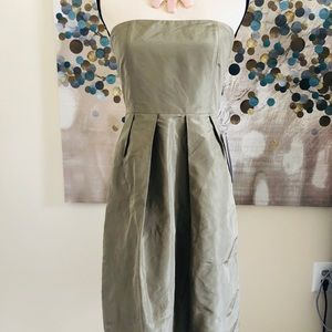 🌺 🆕J Crew strapless silk dress size 4